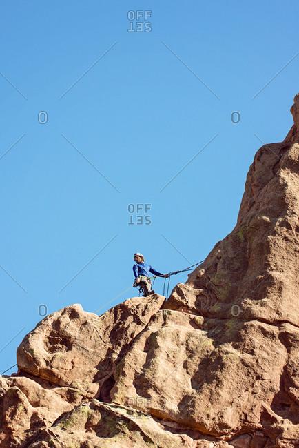 Male Rock Climber at Garden of the Gods Colorado