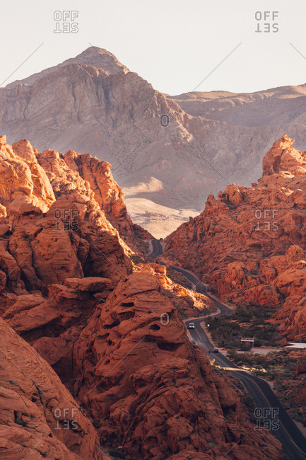 Scenic view of Valley of fire