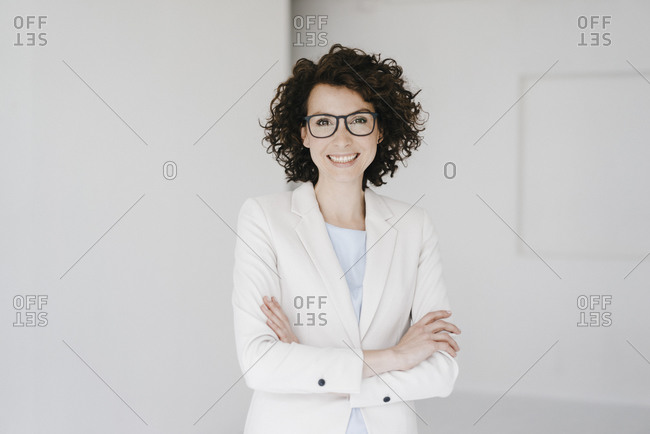 Businesswoman wearing glasses- looking confident