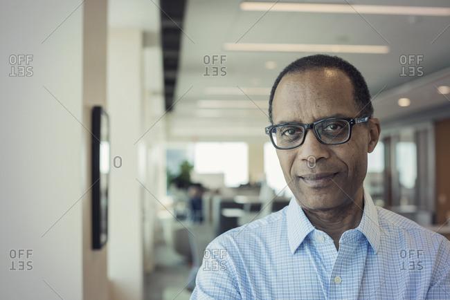 Afro American man in office- portrait