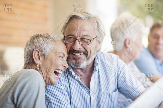 Portrait of senior couple having fun
