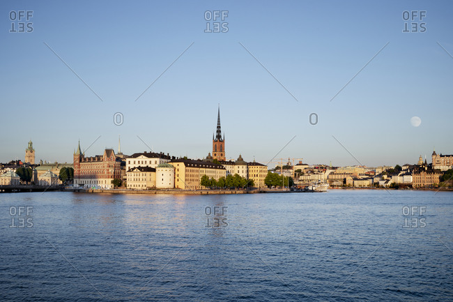 Stockholm, Sweden - June 15, 2019: View of the waterfront city of Stockholm