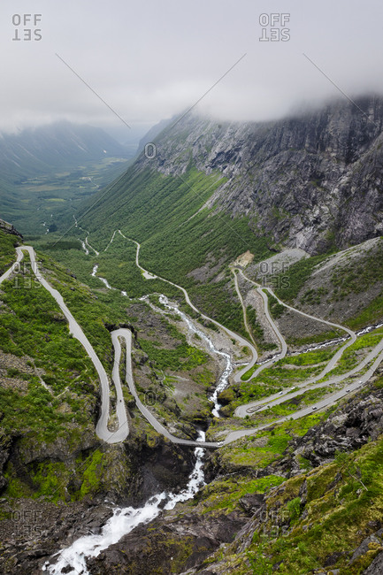 Trollstigen Highway in the Norwegian fjords