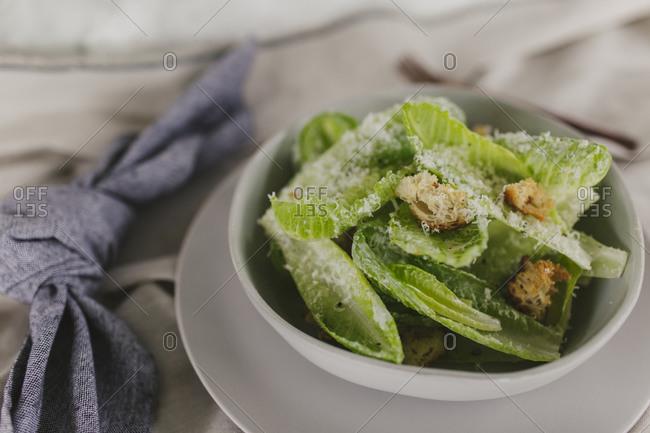 Close up of a homemade salad