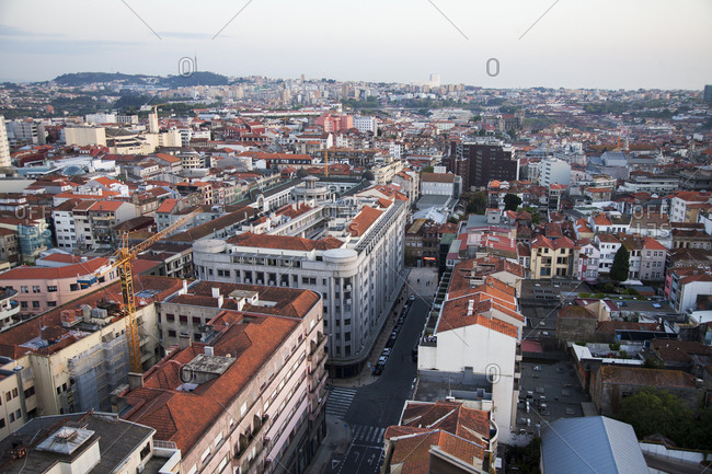 Porto, Portugal - April 20, 2019: View of the city of Porto, Portugal