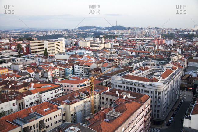 Porto, Portugal - April 20, 2019: View over the city of Porto, Portugal