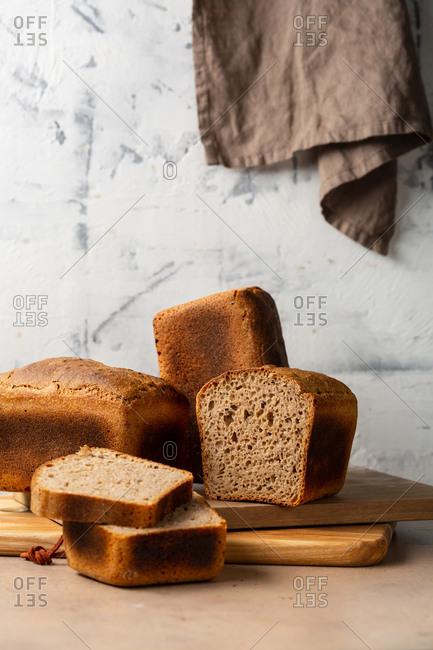 Close up of delicious wholegrain bread