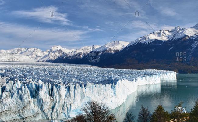 Perito Moreno Glacier El Calafate Patagonia Argentina in winter