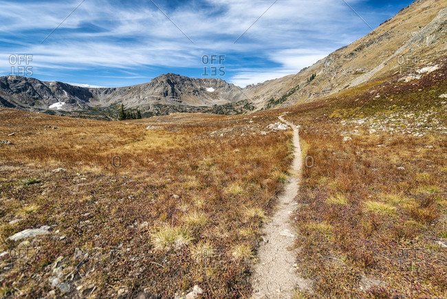 Hiking Trail in the Indian Peaks Wilderness