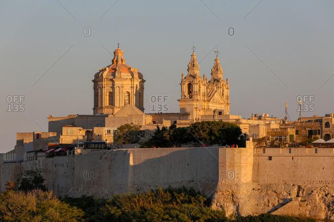 Mdina at Sunset in Malta