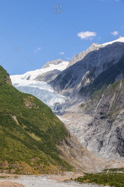 New Zealand- Westland District- Franz Josef- Scenic view of Franz Josef Glacier
