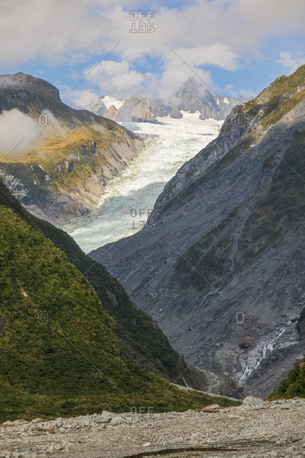 New Zealand- Scenic view of Fox Glacier