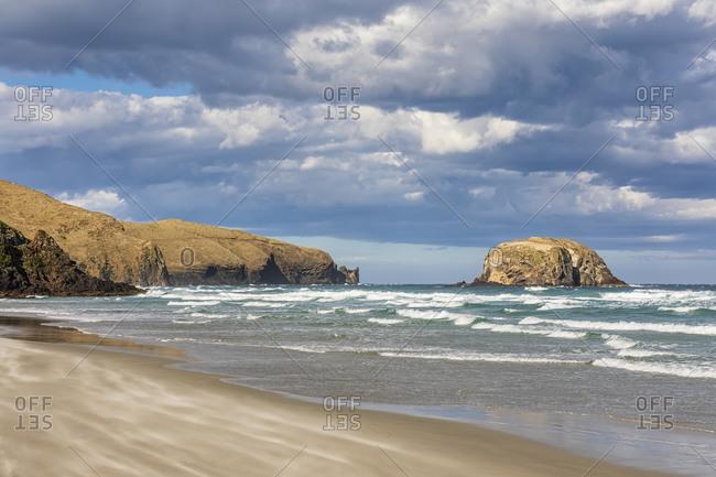 New Zealand- Dunedin- Clouds over Allans Beach