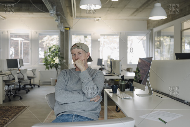 Portrait of casual employee in office