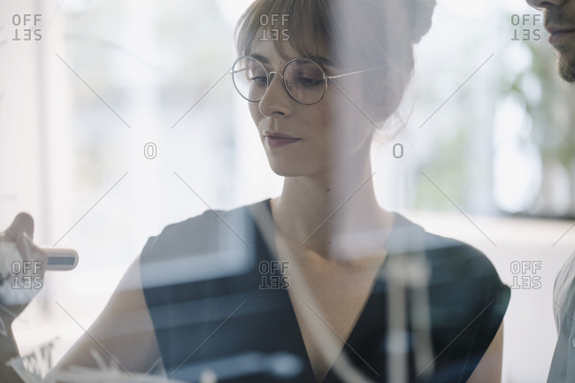 Businesswoman working on a project in office