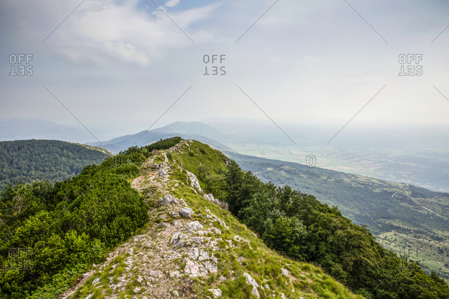 View from Vojak mountain on Ucka Nature Park- Istria- Croatia
