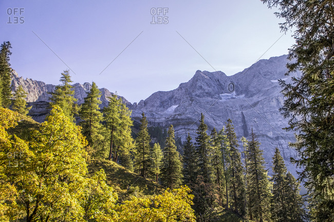 Karwendel mountains in autumn- Hinteriss- Austria