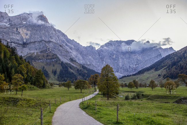 Grosser Ahornboden in Karwendel mountains in autumn- Hinteriss- Austria