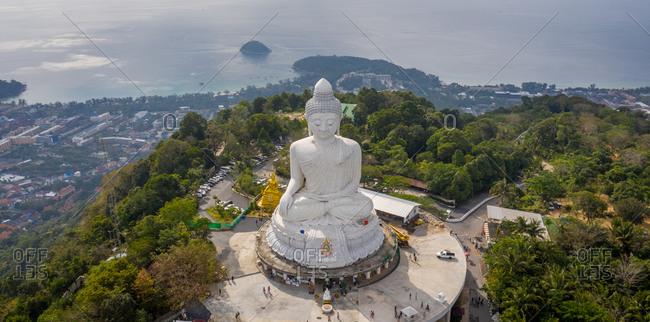 Panoramic aerial view of Big Buddha in PhuketThailand