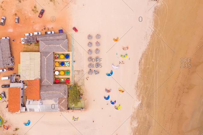 October 20, 2018: Aerial view of Paracuru Kite Beach Spot, Ceara, Brazil