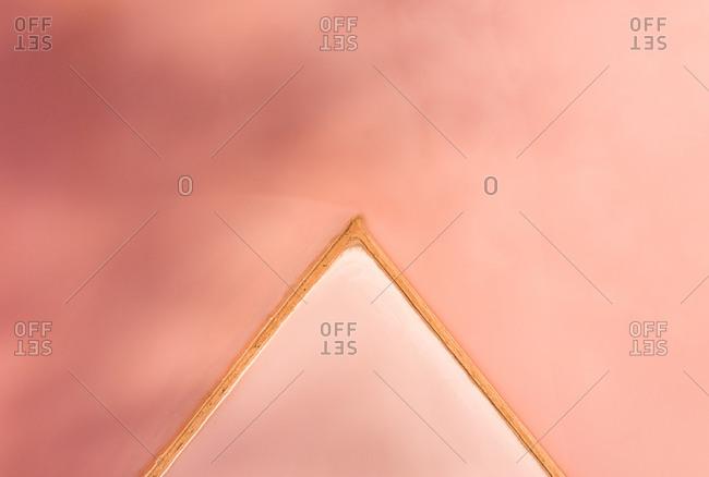 Aerial view of a pink lake, Lochiel, South Australia, Australia