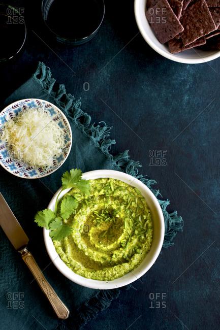Cilantro Pesto in a serving bowl