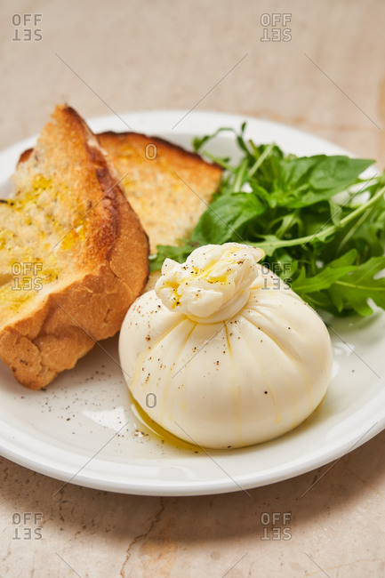Simple high cuisine dish with bread