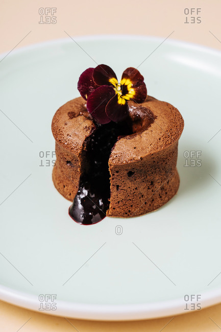 Chocolate muffin with chocolate filling