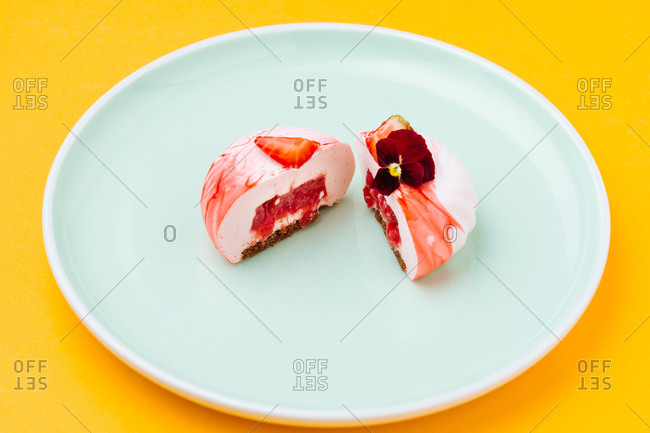 Delectable dessert with berry filling