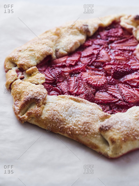 Fresh baked strawberry galette
