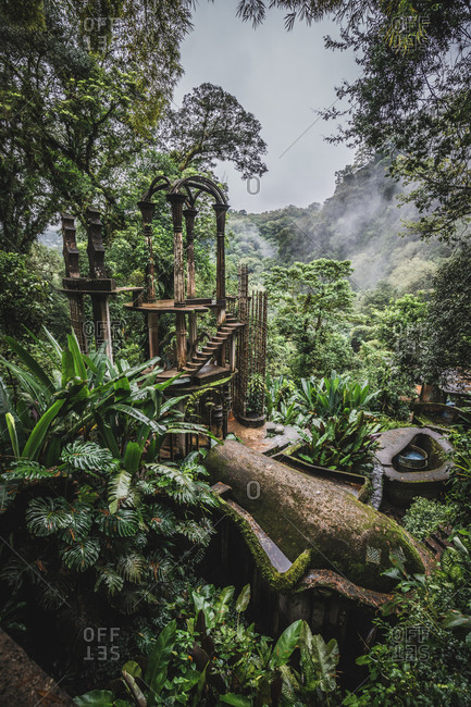 Surrealistic group of structures in Xilitla, Mexico