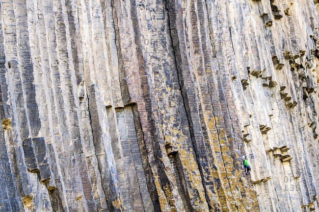 Woman rock climbing Short Trip 5.11c, Jermuk, Armenia