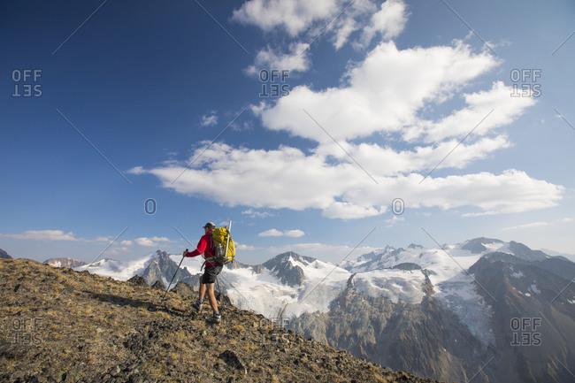Backpacking above Athelney Pass, British Columbia, Canada