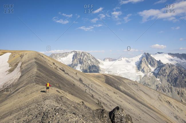 hiking near Athelney Pass, British Columbia, Canada