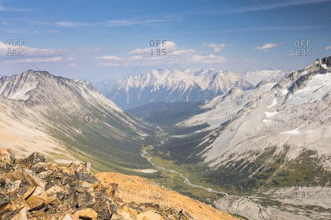 High angle view of Athelney Pass.