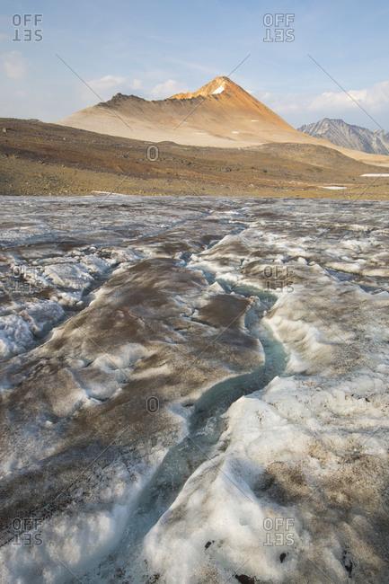 Glacial run-off toward Ochre Mountain