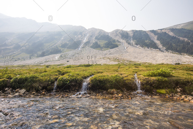 Streams converge in Athelney Pass, British Columbia, Canada
