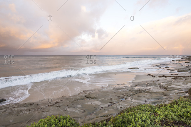 November coastal sunrise at Windansea Beach. La Jolla, CA.