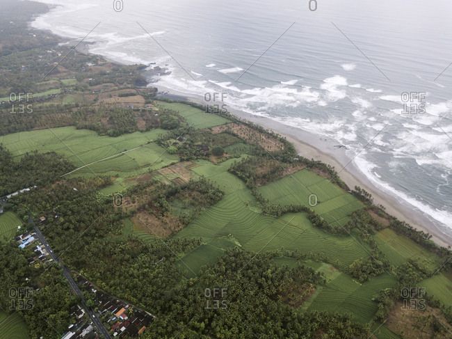 Aerial view, Agricultural country, Agriculture, Bali, Beach, Beauty of