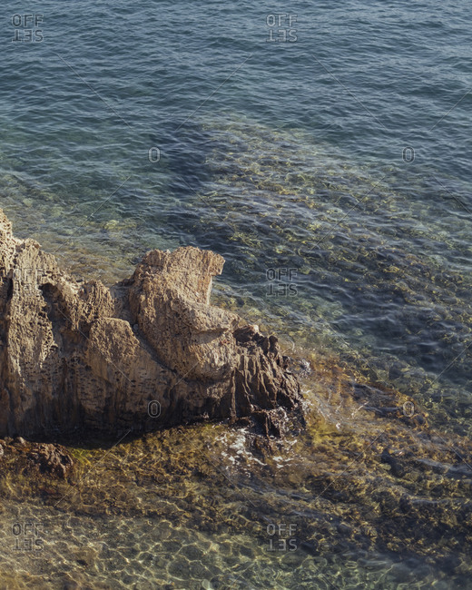 Rock formations off the coast of Catalonia, Spain