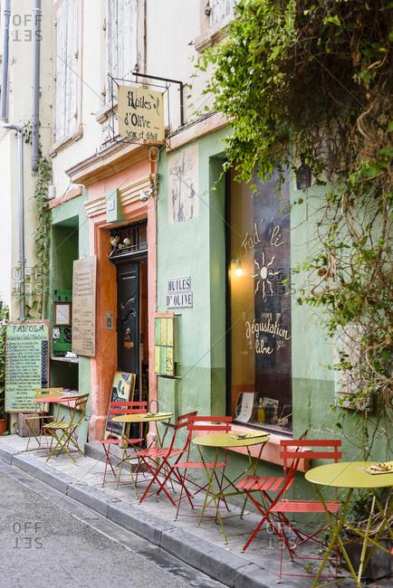 Arles, France - June 28, 2017: Old streets in old part of Arles, Camargue, Bouches-du-Rhone, France