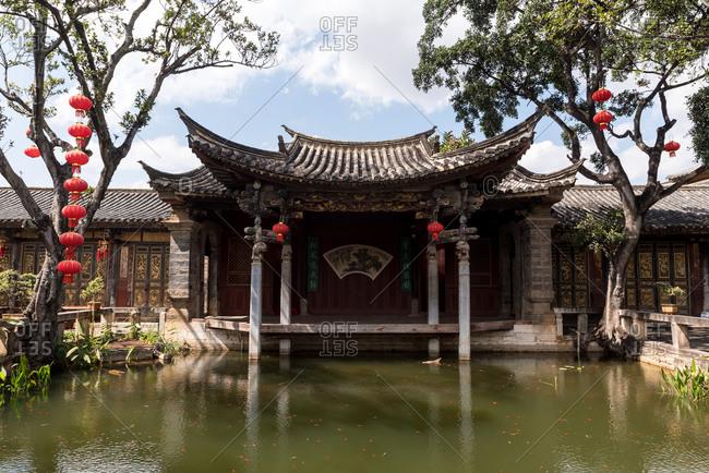 Jianshui, China - March 7, 2019: March 7, 2019: Zhu family garden in the traditional chinese town of Jianshui, China