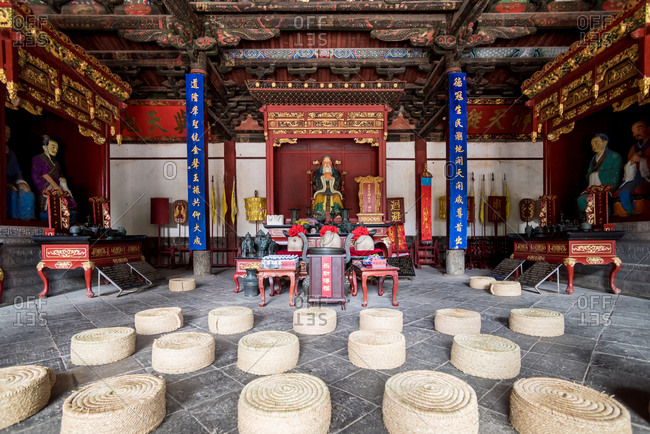 Jianshui, China - March 8, 2019: March 8, 2019: Confucian Temple (Wenmiao) in Jianshui, Yunnan, China. One of the biggest and oldest Confucian temples. National heritage.