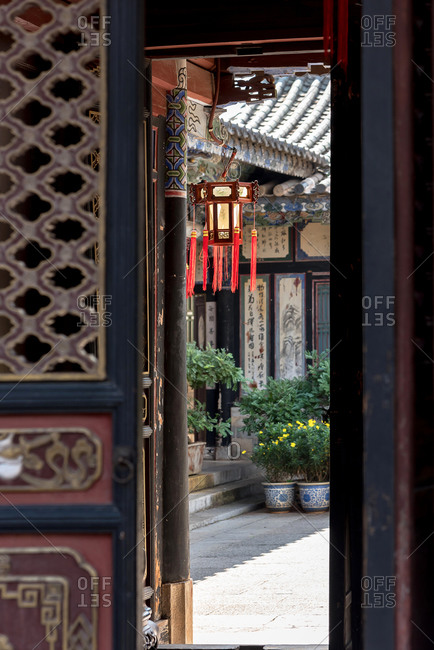 Jianshui, China - March 7, 2019: March 7, 2019: An ancient stately home in the historic city center of Jianshui. Yunnan, China