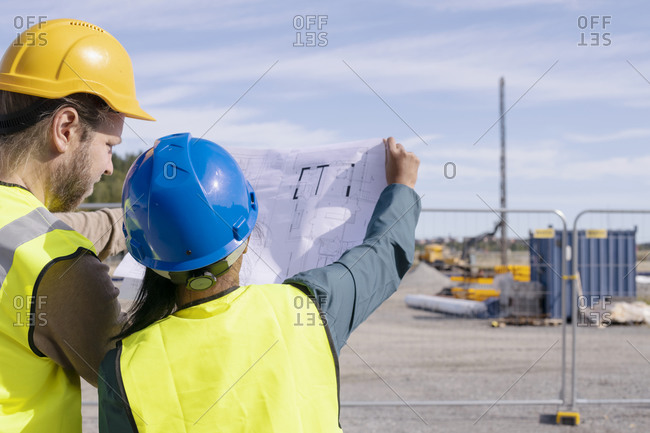 People on construction site