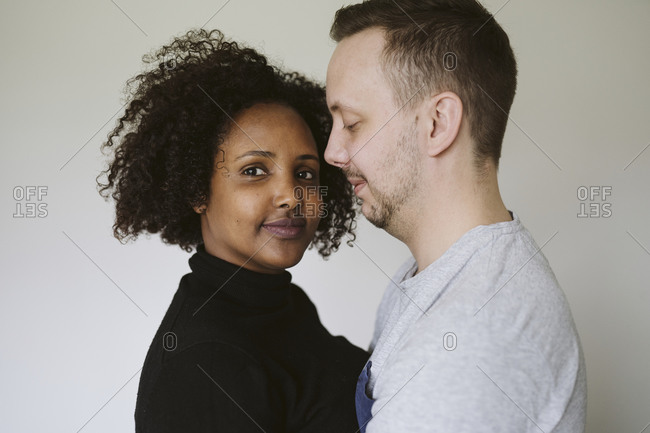 Multi-ethnic couple together - Offset Collection