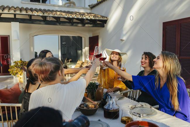 Female friends having toast
