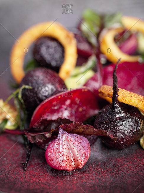 Roasted vegetables, close-up