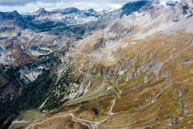 Austria- Carinthia- Aerial view of Molltal Glacier