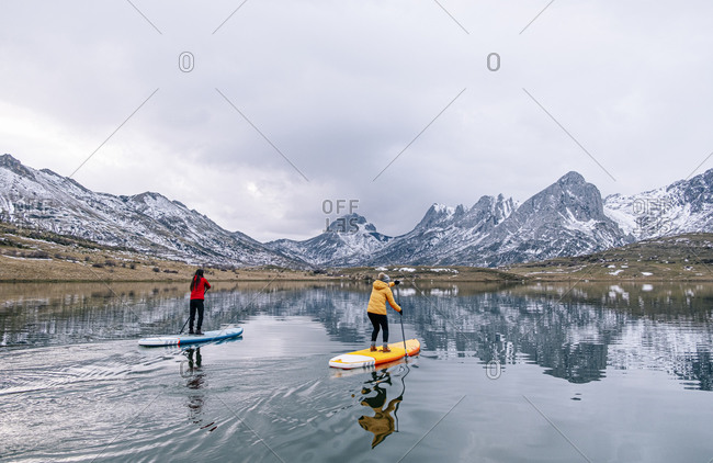 Stand up paddle surfing- Leon- Spain